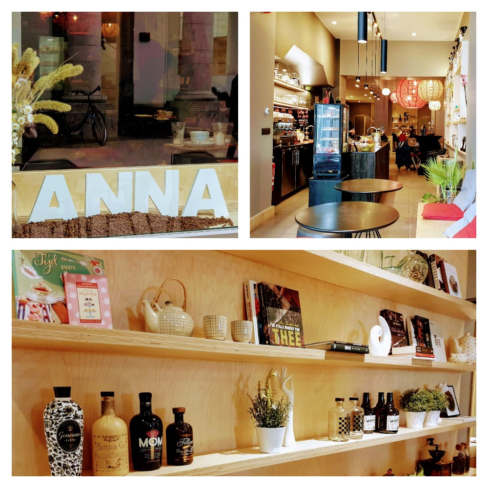 Collage van Anna's specialty bar.